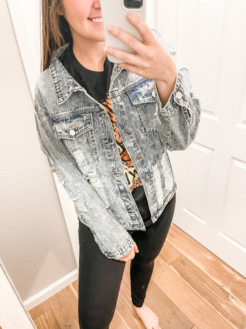 Always Dreaming Jacket: Light Denim