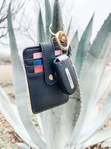 Wallet Keychain: Black