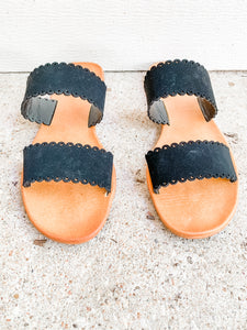 Vacation Season Sandals: Black