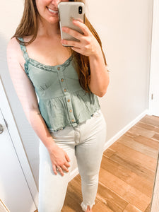 Our First Date Top: Dusty Mint