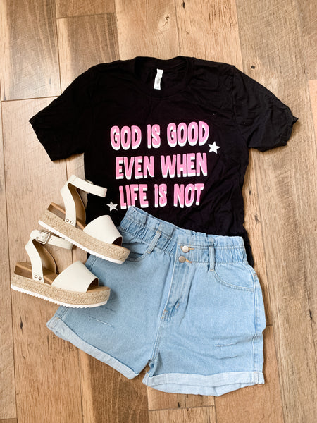 God Is Good Tee: Black