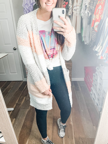 Cooler Mornings Cardigan: Peach