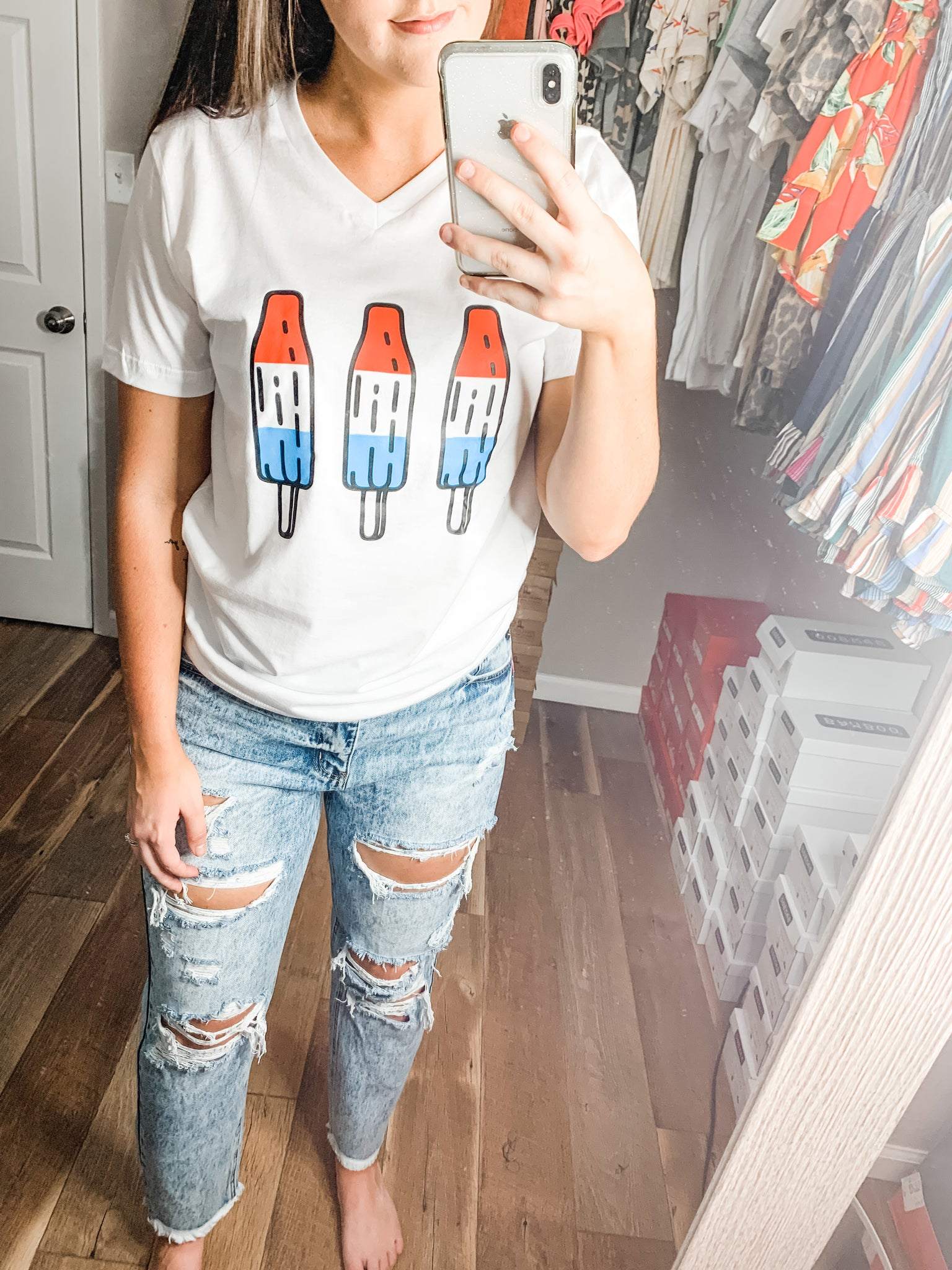Rocket Pop Tee: White