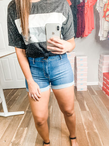 Casually Obsessed Shorts: Medium Denim