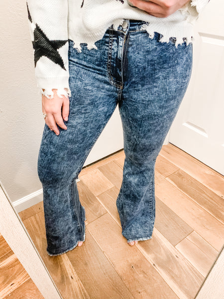 The Veronica Flare Jeans: Acid Wash