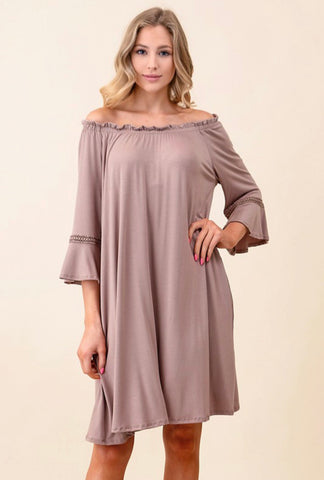 Made For You Dress: Taupe