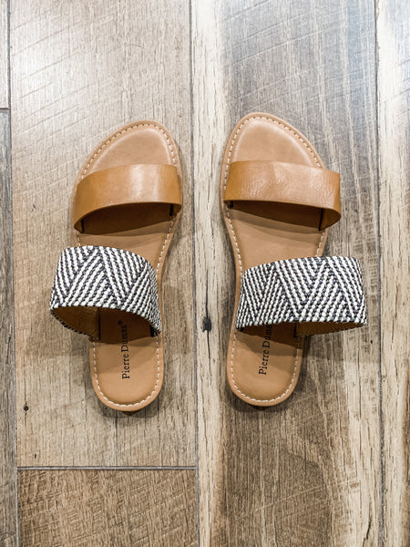 Late Night Sandals: Camel/Multi