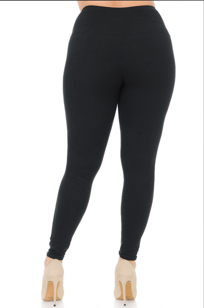 CURVY Your Favorite High Waisted Leggings: Black