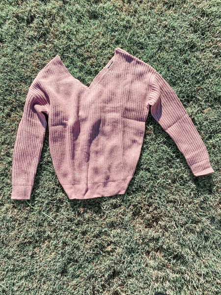 Cabin Fever Sweater: Mauve