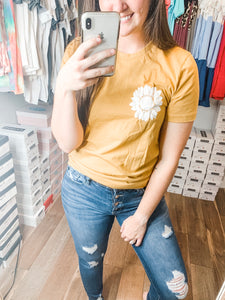 Pocket Full Of Sunshine Tee: Heather Mustard