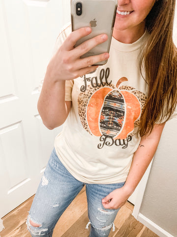 Fall Days Tee: Oatmeal