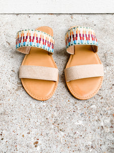 Lets Go Anywhere Sandals: Natural