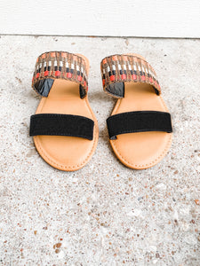 Lets Go Anywhere Sandals: Black