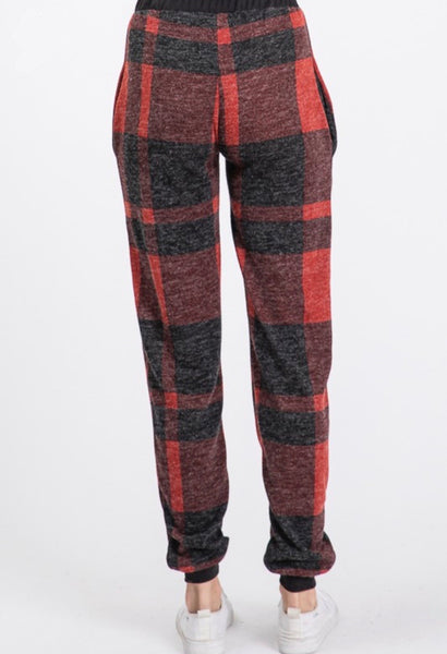Buffalo Plaid Joggers: Multi