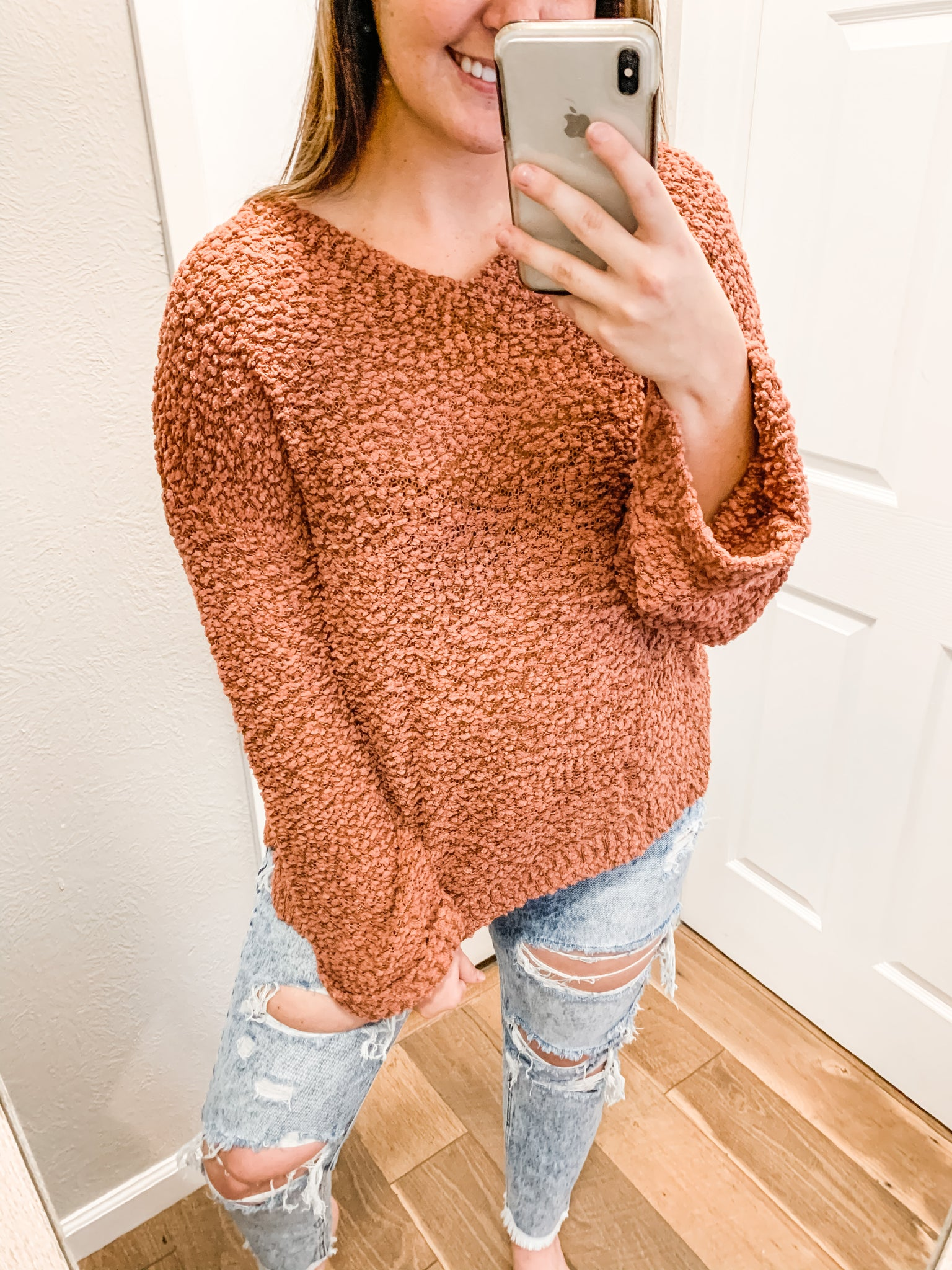 Lets Cozy Up Sweater: Mocha