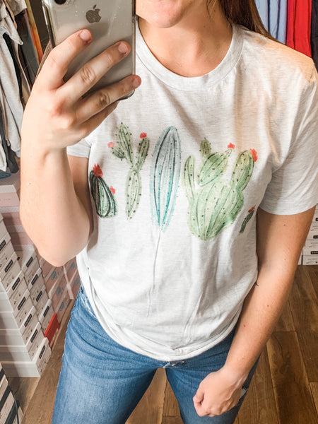 The Gray Cactus Tee: Ash Gray