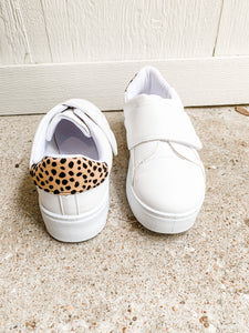 Got Your Attention Sneakers: White/Cheetah