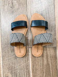 Late Night Sandals: Black/Multi