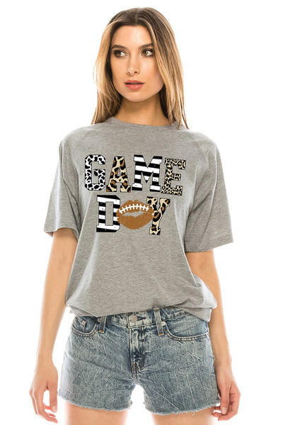 Game Day Tee: Heather Gray