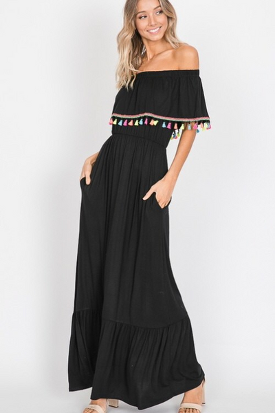 Take Me To The Beach Dress: Black