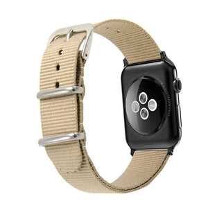 Striped Nylon Apple Watch Band