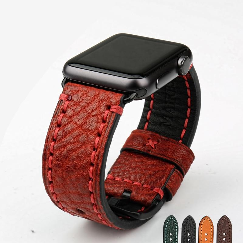 Classic Genuine Leather Apple Watch Strap