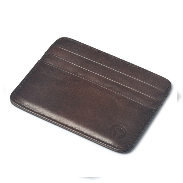 Ultra-thin Genuine Leather Wallet