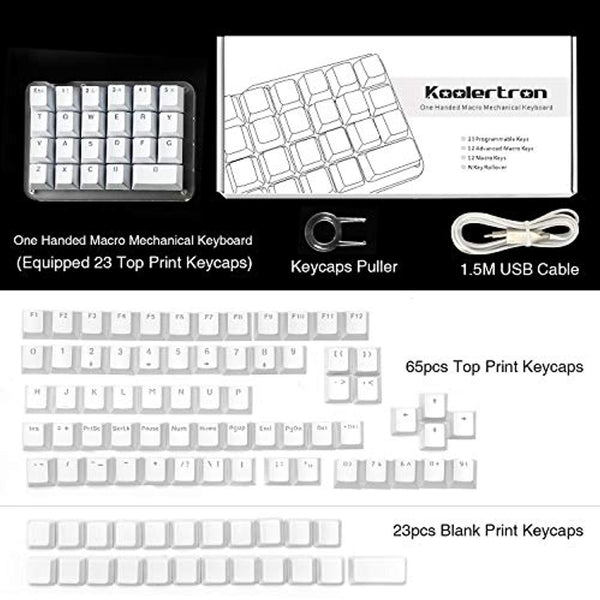 fb9e63f55a3 ... Koolertron One Handed Macro Mechanical Keyboard, Portable Mini One-Handed  Mechanical Gaming Keypad 23 ...