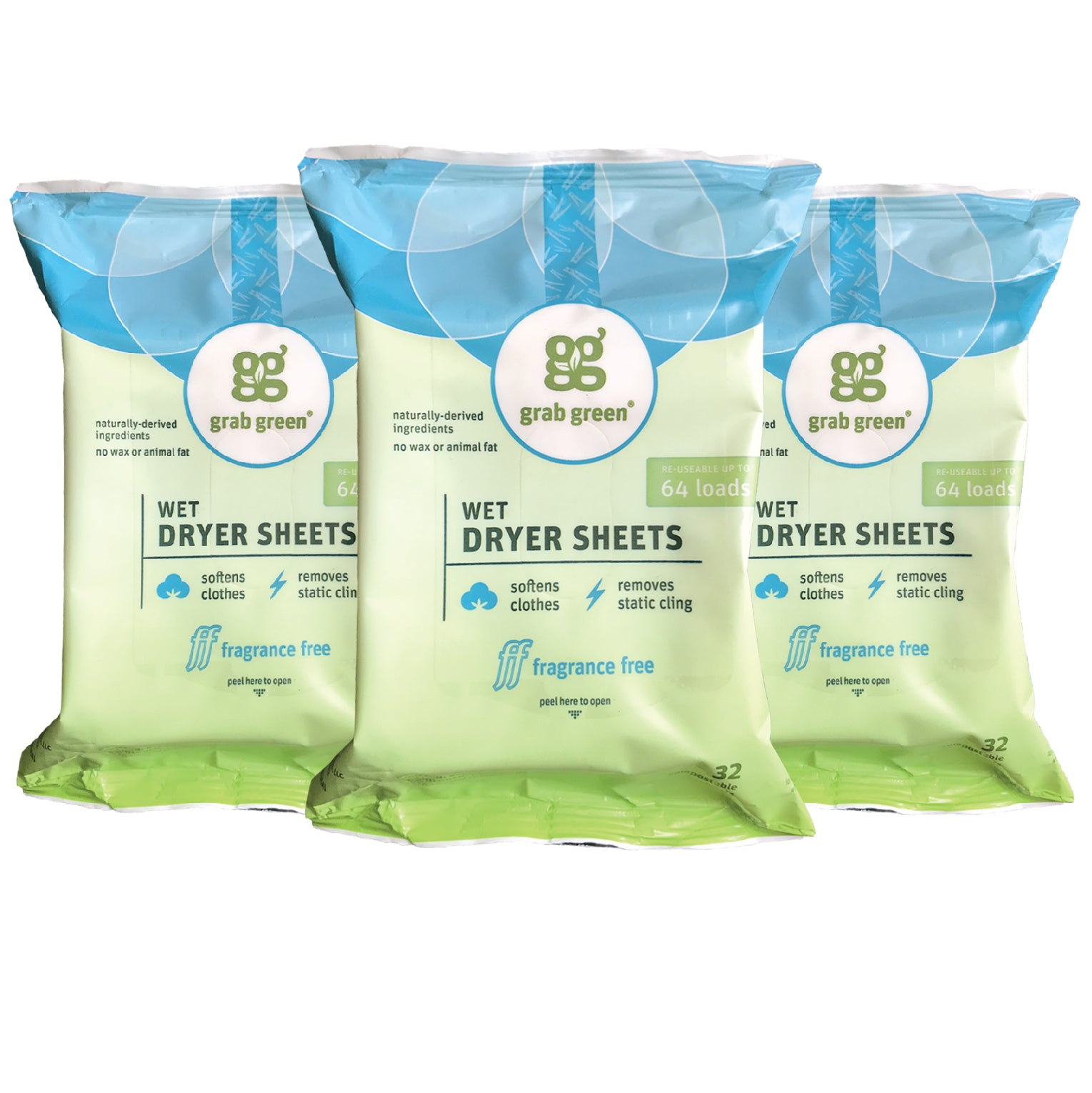 Wet Dryer Sheets - 3 pack