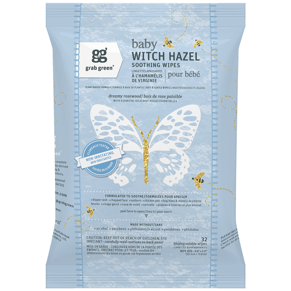 Baby Witch Hazel Wipes - 3 Pack