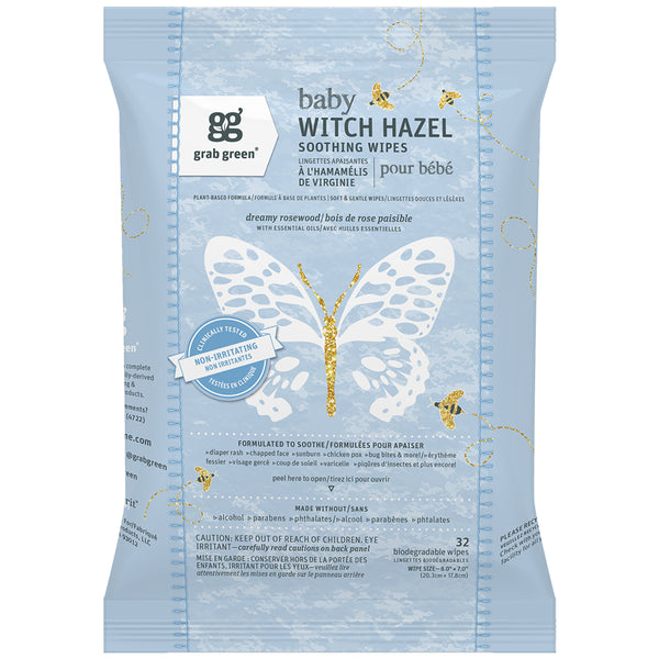 Baby Witch Hazel Soothing Wipes—Dreamy Rosewood