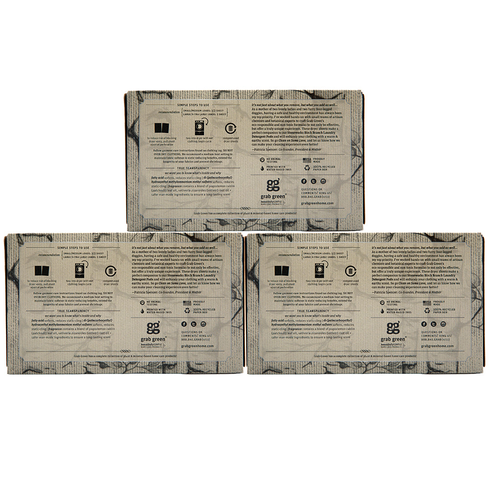 Stoneworks Dryer Sheets - 3 pack