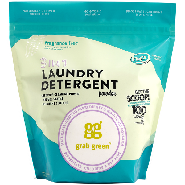 Contemporary 3-in-1 Laundry Detergent Powder—Fragrance Free