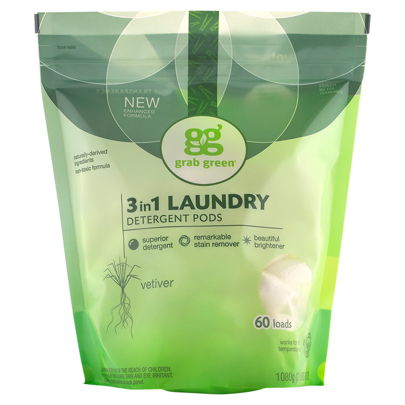 Classic 3-in-1 Laundry Detergent Pods—Vetiver