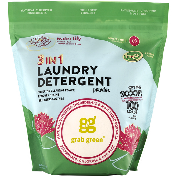 Contemporary 3-in-1 Laundry Detergent Powder—Water Lily