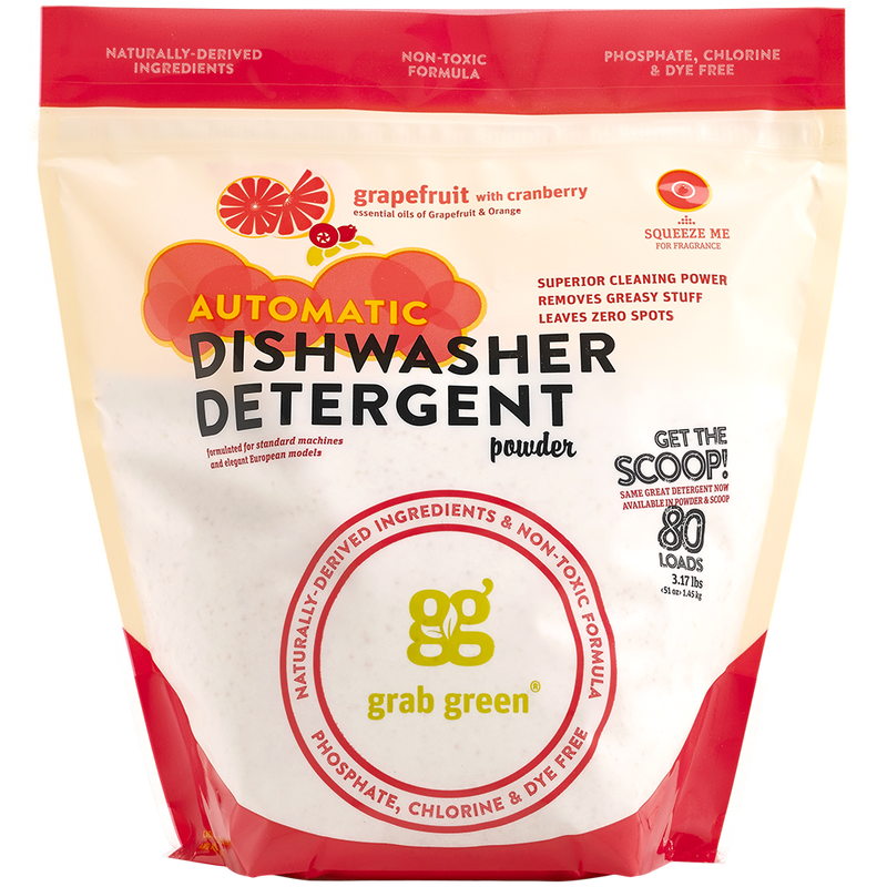 Contemporary Automatic Dishwasher Detergent Powder—Grapefruit+Cranberry