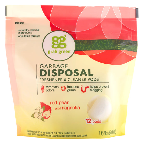 Classic Garbage Disposal Freshener & Cleaner Pods—Red Pear+Magnolia