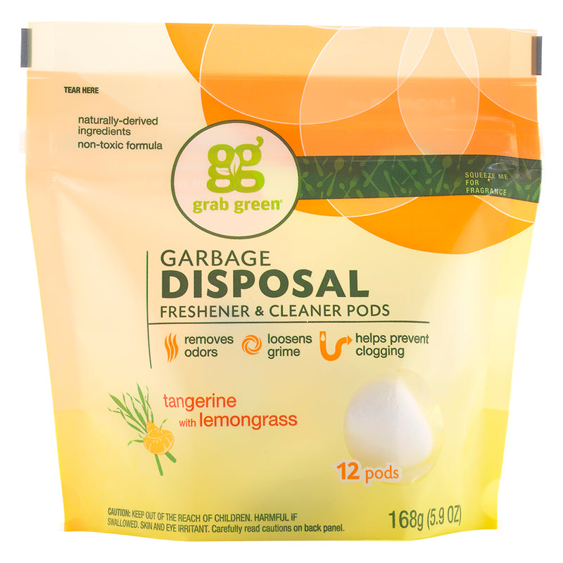 Classic Garbage Disposal Freshener & Cleaner Pods—Tangerine+Lemongrass