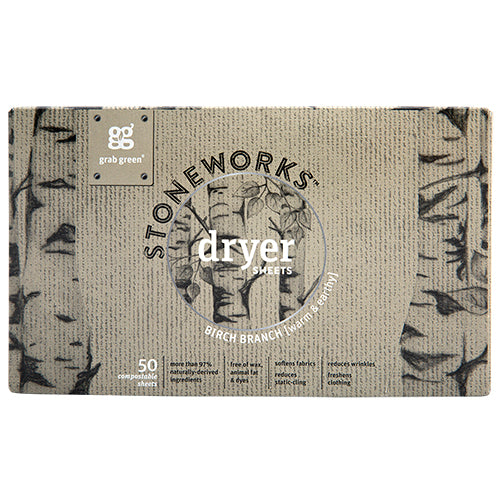 Stoneworks Dryer Sheets—Birch Branch