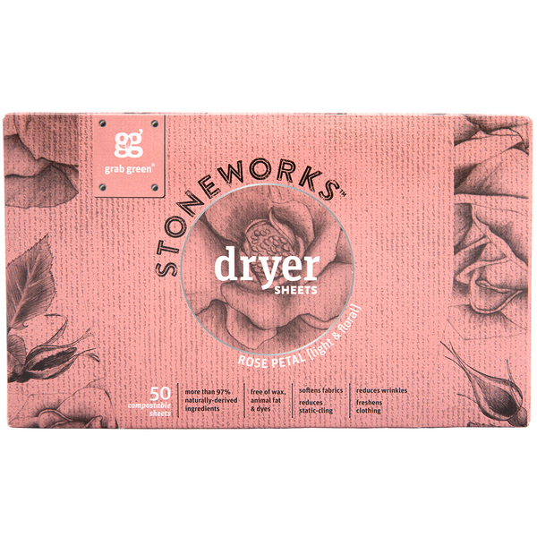 Stoneworks Dryer Sheets—Rose Petal