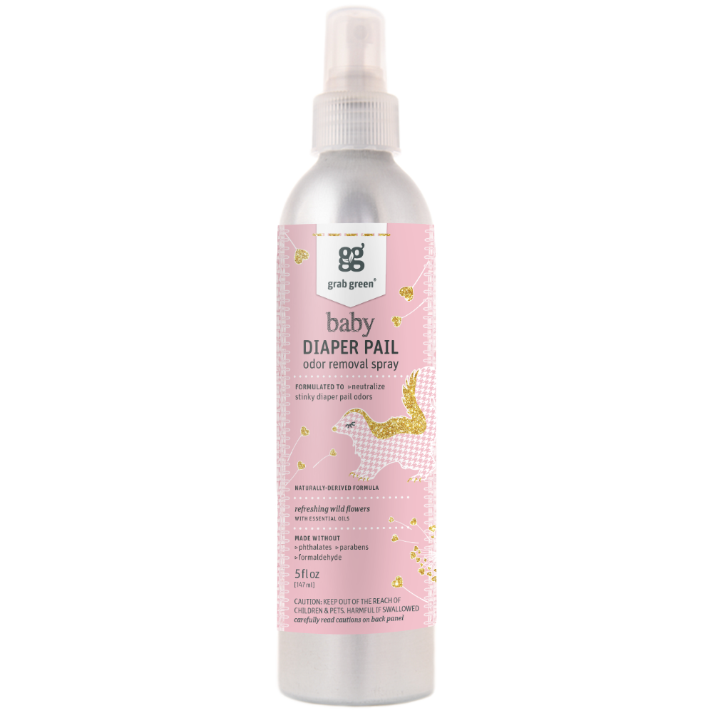 Baby Diaper Pail Odor Remover Spray—Refreshing Wild Flowers