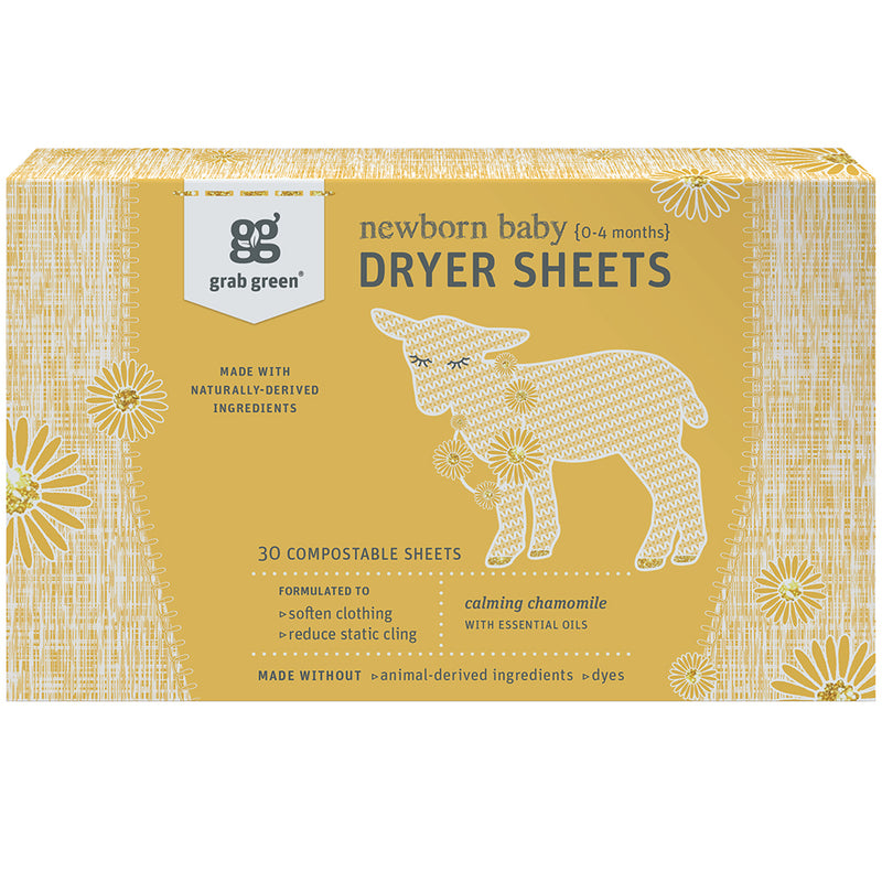 Newborn Baby Dryer Sheets {0-4 months}—Calming Chamomile