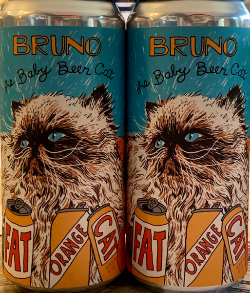"Fat Orange Cat Brewing ""Bruno The Baby Beer Cat"""