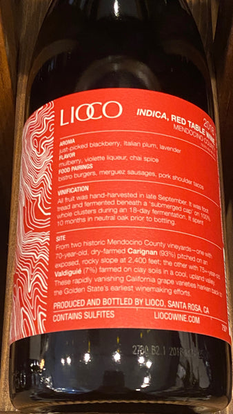 LIOCO Indica Red Mendocino County, 2018