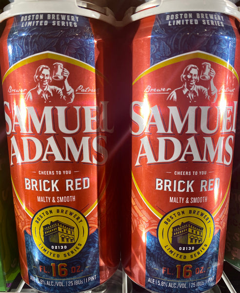 "Sam Adams Brewing ""Brick Red"" Ale"