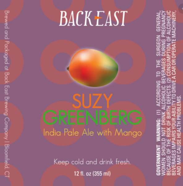 "Back East Brewing ""Suzy Greenburg"" NEIPA"