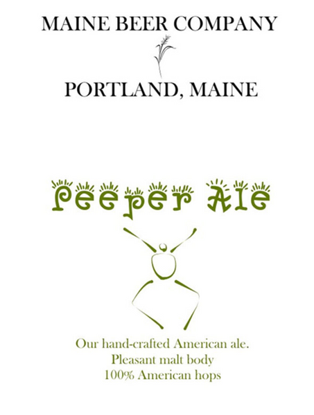 "Maine Beer Co. ""Peeper"" Pale Ale (16.9 oz) Bottles"