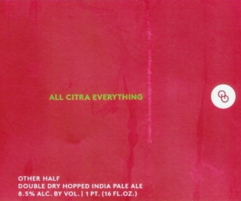 "Other Half Brewing ""All Citra Everything"" DDH IPA"