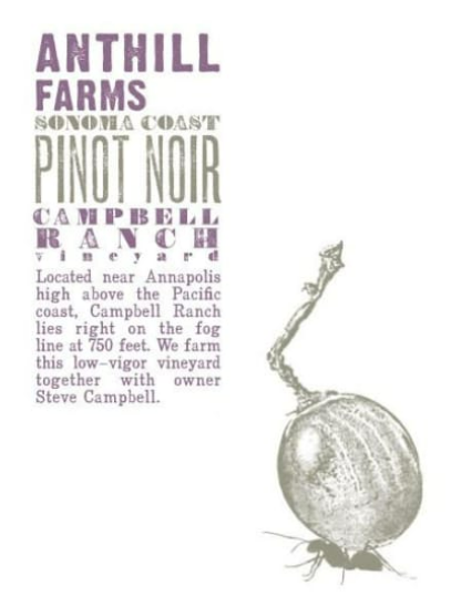 Anthill Farms Cambell Ranch Pinot Noir, 2018