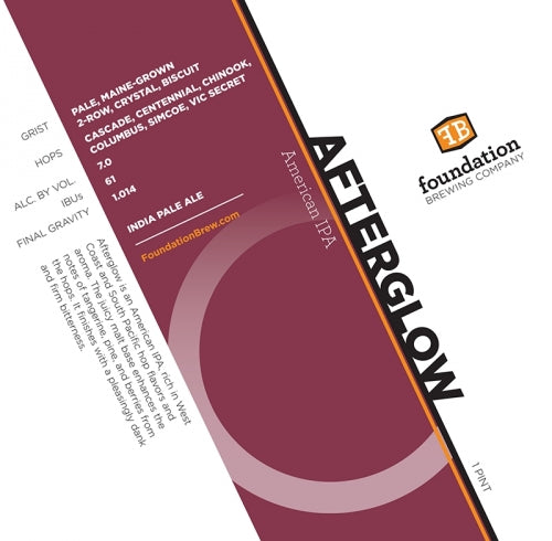 "Foundation Brewing ""Afterglow"" IPA"